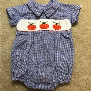 Classic Whimsy Smocked Pumpkin Bubble